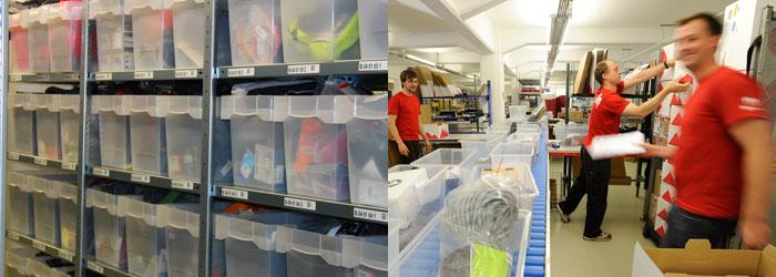 Nel nostro magazzino ci sono oltre 75.000 articoli, e in alcuni giorni elaboriamo più di 1.600 ordini